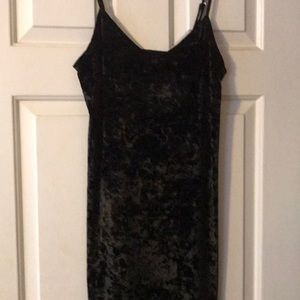 Black Crushed Velvet Hollister Dress Size Small